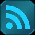 RSS Button DarkBlue LightBlue