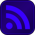 RSS Button DarkPurple Blue