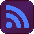 RSS Button DarkPurple MediumBlue