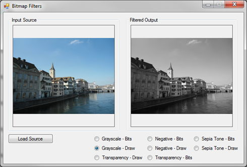 Image Filters Grayscale ColorMatrix