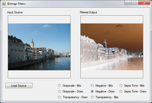 Image Filters Negative Color Matrix