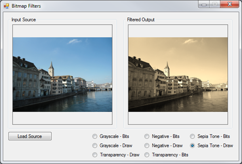 Image Filters Sepia ColorMatrix