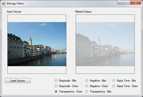 Image Filters Transparency ColorMatrix