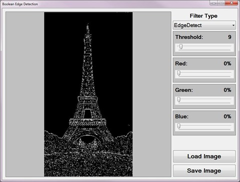 Boolean Edge Detection Sample Application