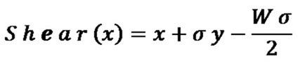 Horizontal Shear Algorithm