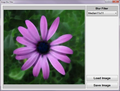 Image Blur Filter Sample Application