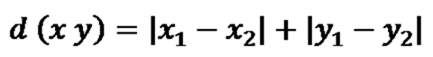 Manhattan Distance Algorithm