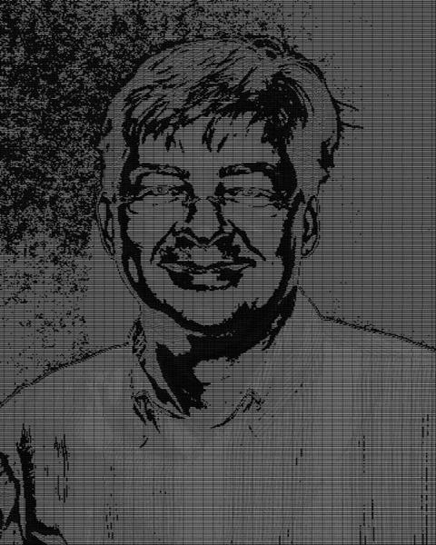 Anders Hejlsberg: 3 Pixels Per Character, 12 Characters, Font Size 5, Zoom 50