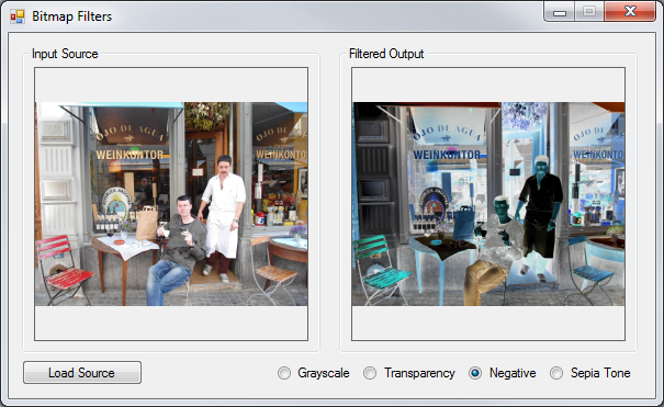C# How to: Image filtering by directly manipulating Pixel