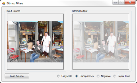 Image Filters Transparency